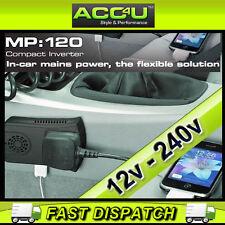 RING MP : 120 12v Coche a 240v REINO UNIDO CASA RED & Conector USB 120w Mini