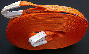4x4 HEAVY DUTY RECOVERY WINCH TOWING ROPE TOW STRAP STROP 30M 5TON BOAT RESCUE