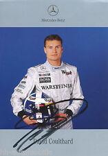 David Coulthard Fankarte 1999 Rennfahrer Motorsport Rennsport Mercedes Formel 1