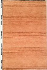 Terracotta Latest Design Rug Solid Area Rug 4' x 6' Gabbeh Hand-Knotted Carpet