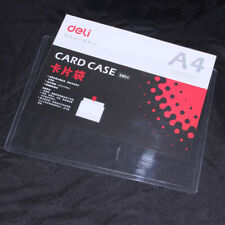 1 x Deli 5806 A4 Rigid Document Sheet Protector Display Holder Clear PVC