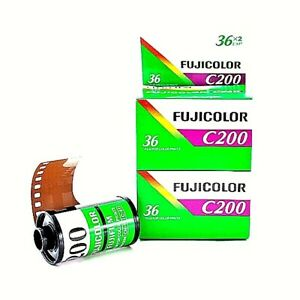 2 x Rolls FUJICOLOR C200 COLOR NEG  Film--35mm/36 exps WITH BOX--expiry: 10/2023