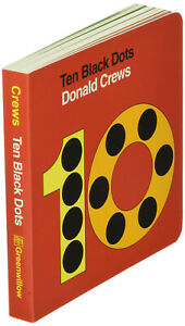 Ten Black Dots by Donald Crews (Board Book)  FREE shipping $35