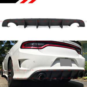 For 2015-2020 Dodge Charger SRT R/T Scat Pack Matt Black Rear Bumper Diffuser
