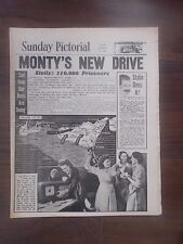 SUNDAY PICTORIAL WWII NEWSPAPER JULY 25th 1943 GENERAL MONTGOMERY IN SICILY