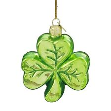 IRISH SHAMROCK Christmas Ornament, Hand-Made Glass, by Kurt Adler