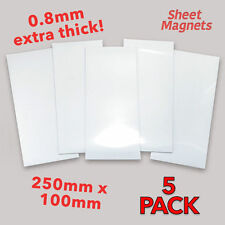 250mm x 100mm White Magnetic Labels | HQ Gloss | 5 Pack | Ref.59138