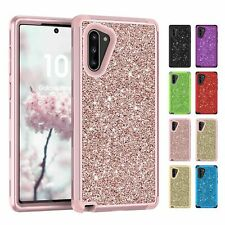 For Samsung Galaxy Note 10 Plus Shockproof Hybrid Bling Glitter Phone Case Cover