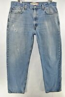 Levi's 550 Relaxed Fit Mens Jeans Size 38x32 Blue Meas. 37x31