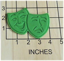 Comedy Tragedy Mask Faces Cookie Cutter and Stamp #1250