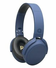 Audial Over Ear Foldable Headphones Navy Blue - Check Condition