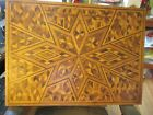 VTG+WOODEN+INLAID+TRAMP+ART+FOLK+ART+CHILD+SIZE+TABLE+-+MADE+AND+SIGNED+DELAWARE