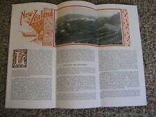 Vintage 1928 Brochure - New Zealand