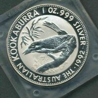 1992 KOOKABURRA 1oz SILVER Coin in Slab