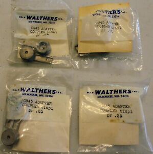 4 Pr. Walthers C845 NOS ( 0 Scale)Tinplate Coupler Adapters in Original Packages