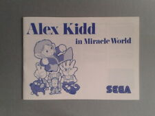 SEGA MASTER SYSTEM ALEX KIDD MIRACLE WORLD COMO NUEVO MINT ORIGINAL MANUAL PAL