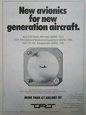 8/1980 PUB TRT RADIOALTIMETER DME TRANSPONDER + 62 AIRLINES ORIGINAL AD