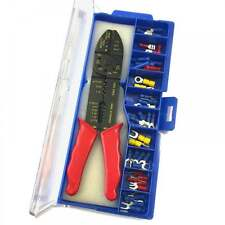 46pc Electricians Crimping Tool & Wire Stripper Kit Crimper Terminal Set + Case
