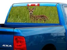 P445 Deer Buck Rear Window Tint Graphic Decal Wrap Back Pickup Graphics