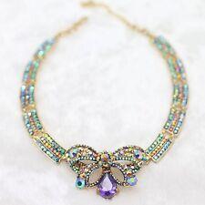 Collier Papillon Cristal Mulicolore Ras du Cou Faux Col  Mariage Cadeau JD 5