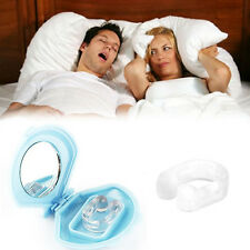 4PCS Silicon Stop Snoring Nose Clip Anti Snore Sleep Apnea Aid Night Tray