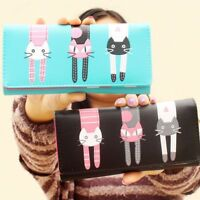 Cartoon PU Leather Cat Wallet Coin Purses Wallet Card Holder Women Purse