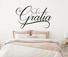 Custom Quote Gratia Wall Decal Decor Sticker Vinyl Lettering CUSTOM M1330
