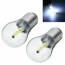 2X 1157 BA15D 12V COB LED Car Reverse Backup Tail Brake Light Lamps Bulbs White