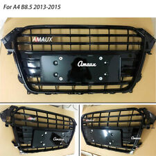 Fit For Audi A4 B8.5 S4 2013 2014 2015 Grill Front Vent Pure Grille All Black
