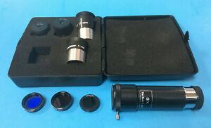 """Celestron 10 pc 1.25"""" Telescope Eyepiece Accessory Kit w/ FREE Barlow - NEW"""