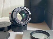 leica apo summicron-m 50mm f/2 asph black 11141 for leica m CLA Mint