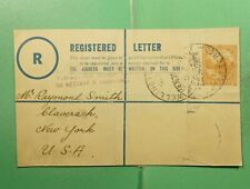 DR WHO NEW ZEALAND WELLINGTON REGISTERED TO USA *FRONT ONLY  g13576