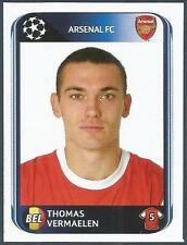 PANINI UEFA CHAMPIONS LEAGUE 2010-11- #485-ARSENAL & BELGIUM-THOMAS VERMAELEN