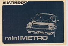 G042-AUSTIN MINI METRO-LIBRETTO DI USO E MANUTENZIONE ANNO 1981