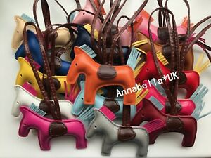 Horse Bag Charm Keychain Pendant Faux Leather Animal Fashion Accessories UK New
