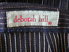 Deborah Hill Size 10 Prussian Blue Cocktail Skirt