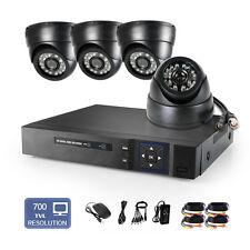 8CH CCTV DVR NVR 4 Indoor 24IR Night Vision HD 700TVL Home Security Camera Kit