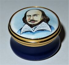 TKS ENGLISH ENAMEL BOX - WILLIAM SHAKESPEARE - TOYE KENNING & SPENCER - MIB