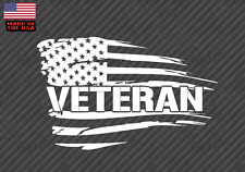 "American flag Veteran sticker decal -Army USMC Military Soldier 10"" (VetAmerVC)"