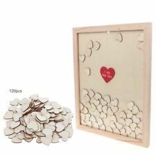 Rustic Wedding Guest Book Photo Signature With 120pcs Heart Drop Top Box Decors