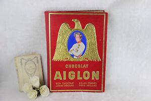 Belgian chocolate AIGLON vintage collecting book chromo congo napoleon themes