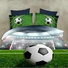 3D Polyester Soccer Ball Duvet Cover Bed Line Bedding Set Pillowcase US Shipped