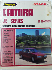 Gregorys SP No 247 Holden Camira JE Series 1987 – 1989 Service and Repair Manual