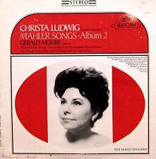 S-60070 Christa Ludwig Mahler Songs Album 2 Gerald Moore NM/VG Seraphim + insert