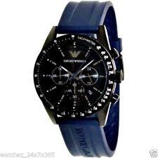Emporio Armani AR6113 Blue Rubber Strap Men's Wrist watch