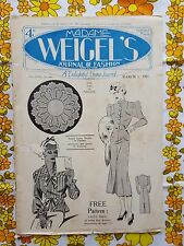MADAME WEIGEL'S JOURNAL OF FASHION March 1, 1937 vintage pattern magazine