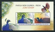 Papua New Guinea PNG 2017 MNH JIS India Peacocks Birds of Paradise 2v M/S Stamps