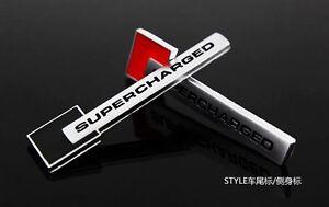 Black Metal Turbo Charger SUPERCHARGED Engine Emblem Badge Sticker For Jaguar
