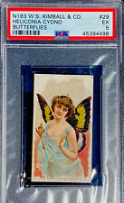 1888 N183 W.S. Kimball  & Co. Butterflies HELICONIA CYDNO #29 PSA 5 EX