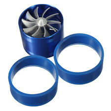 NEW Car Fuel Gas Saver Single Supercharger Turbine Turbo Charger Air Intake Fan